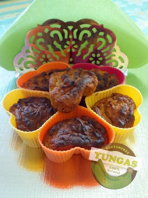 Édesburgonyás gyömbéres muffin